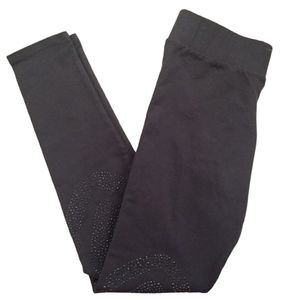 BCBG Leggings Small Black Beaded Ankle Length